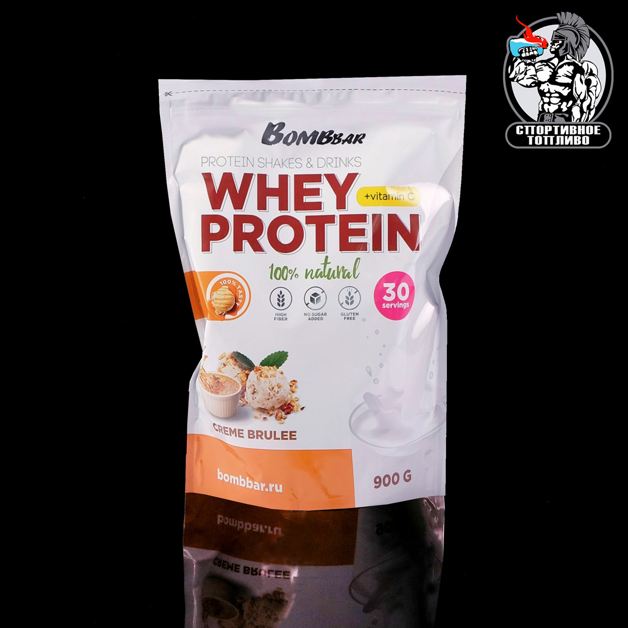 """Сывороточный протеин от BomBBar """"Whey Protein"""" 900гр/30порций"""