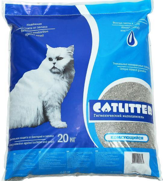 Наполнитель CATLITTER комкующийся 20 л