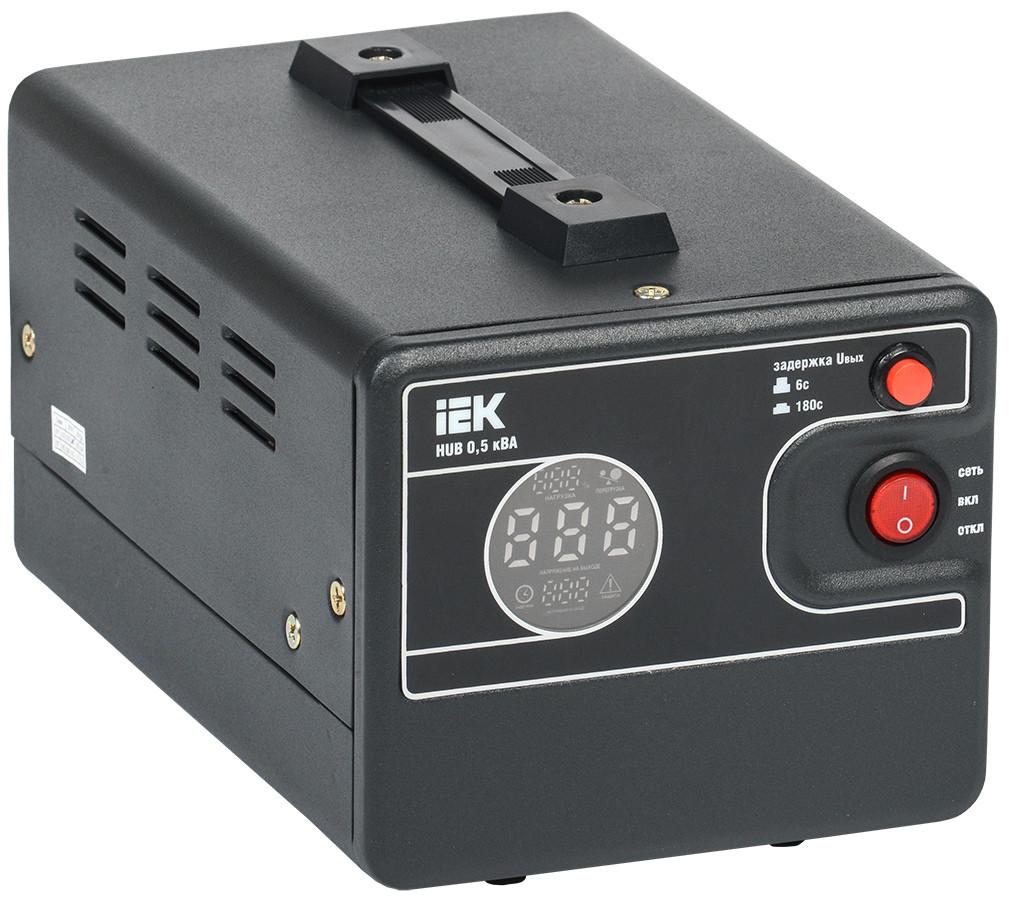 Стабилизатор напряжения 1-ф. переносной 0,5 кВА HUB IEK