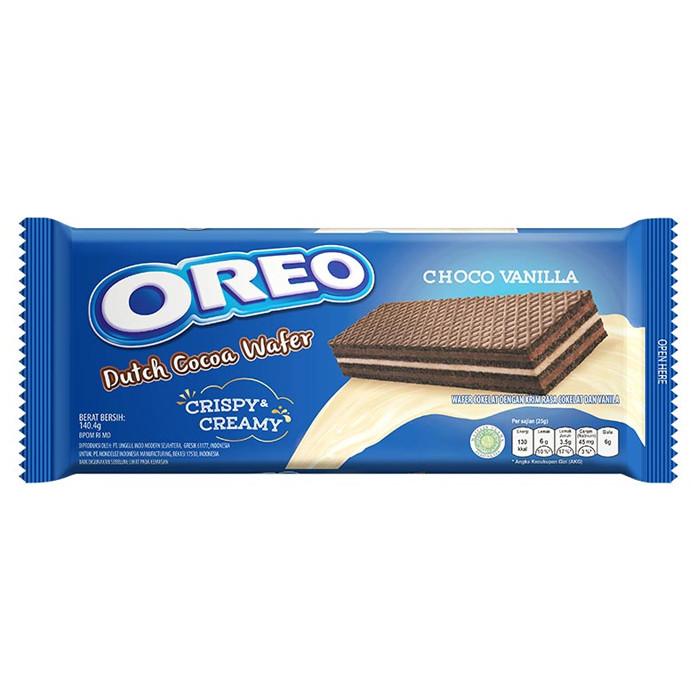 Вафли OREO Dutch Cocoa Wafer Choco Vanilla с шоколадной и ванильной начинками 140,4гр. (24шт-упак)