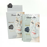 Маска для лица Dear she charcoal bubble carbonated clay mask