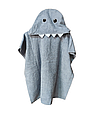 Пончо полотенце  серая акула, фото 3
