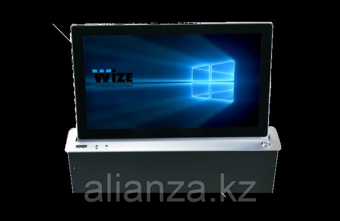 Моторизованный выдвижной монитор Wize Pro WR-15GF silver