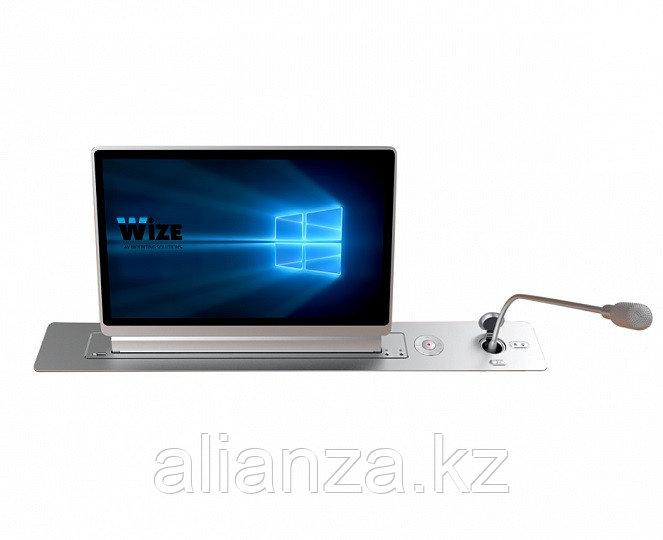 Моторизированный монитор Wize Pro WR-15GV silver