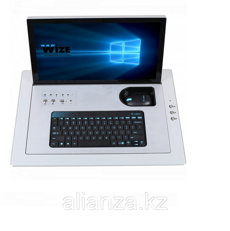 Моторизированный монитор Wize Pro WR-17FL silver
