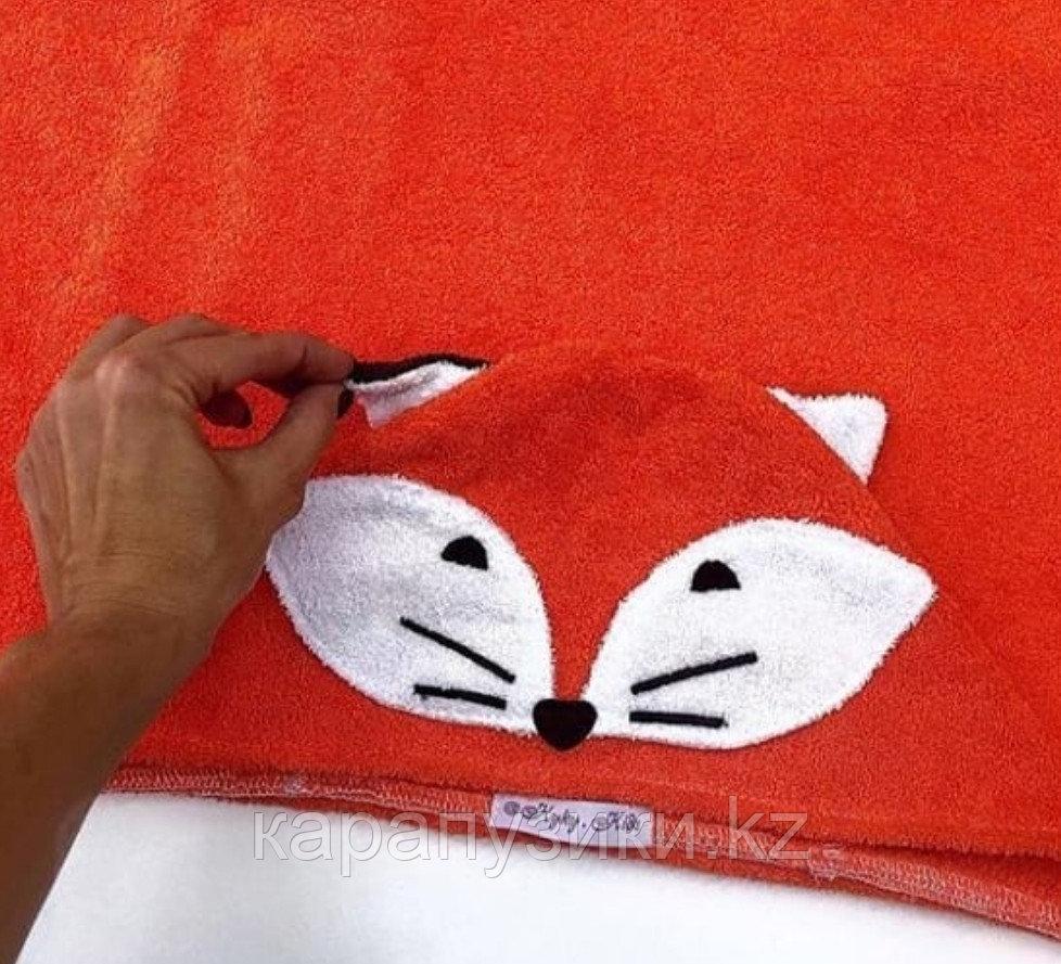 Пончо полотенце рыжий лис