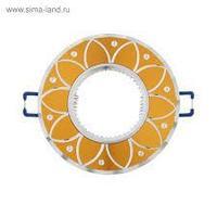 Светильник ITALMAC Stella 51 5 02, GU5.3, алюминий, неповорот.. золото/хром 4950638
