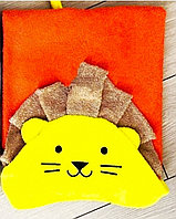 Пончо полотенце львёнок