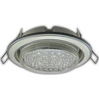 Ecola GX53 H4 светильник встраив. без рефл. 2цв. серебро-жемчуг-серебро 38х106 (к+)