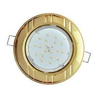 Ecola GX53 H4 светильник встраив. без рефл. 2цв. золото-хром-золото 38х106 (к+)