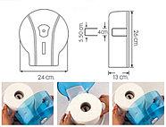 Диспенсер антивандальный для туалетной бумаги Джамбо Vialli пластиковый черный Турция Подробнее: https://zoro., фото 2
