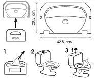 Диспенсер (держатель) для гигиенической бумаги (настил для унитаза) для крышки унитаза черный, фото 3