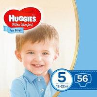 Подгузники Huggies Ultra Comfort 5 для мальчиков 12-22 кг 56 штук