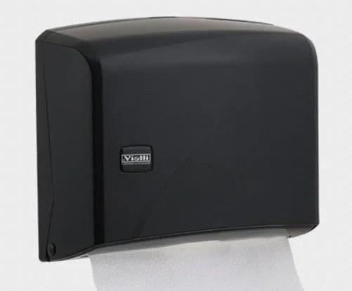 Диспенсер для бумажных полотенец Z укладка черный пластик Турция