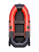 Надувная моторно - гребная лодка Таймень N 270  комби красный/черный, фото 1