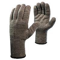 Перчатки шерстяные двойные (70% шерсть+30% акрил), двойной оверлок