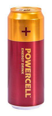 Энергетический напиток Powercell Вишня (Пауэрселл) батарейка безалкогольный 450ml (12шт упак)