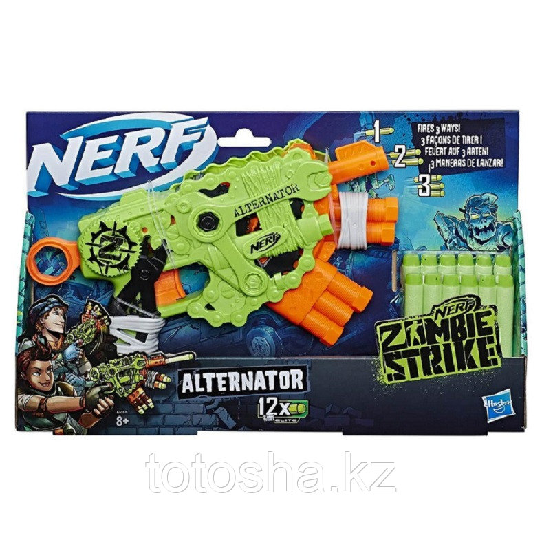 Бластер Nerf Zombie Strike Alternator Зомби страйк Альтернатор, E6187