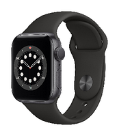 Смарт часы Apple Watch Series 6 GPS, 40mm Space Gray Aluminium Case with Black Sport Band - Regular