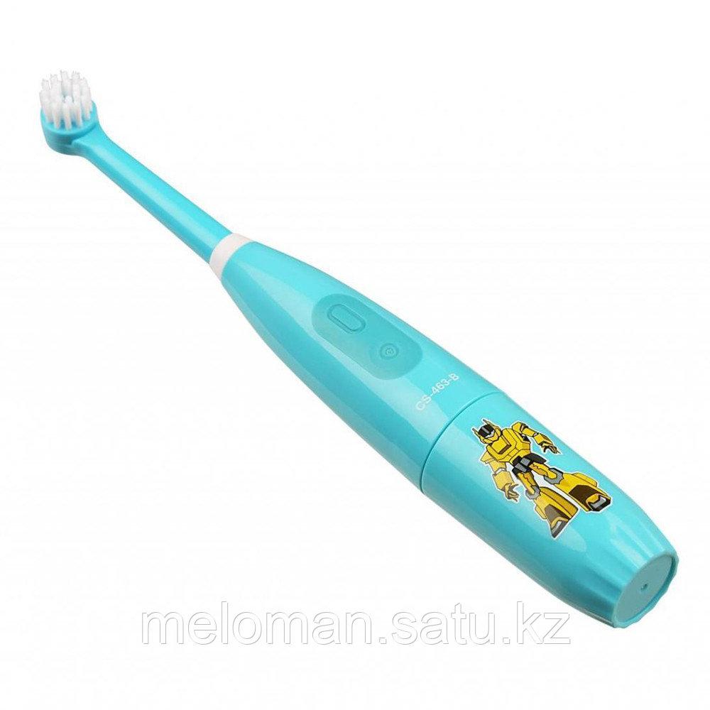 CS Medica: Электрическая звуковая зубная щетка CS-463-B Kids. 5-12 лет, бирюзовый - фото 7
