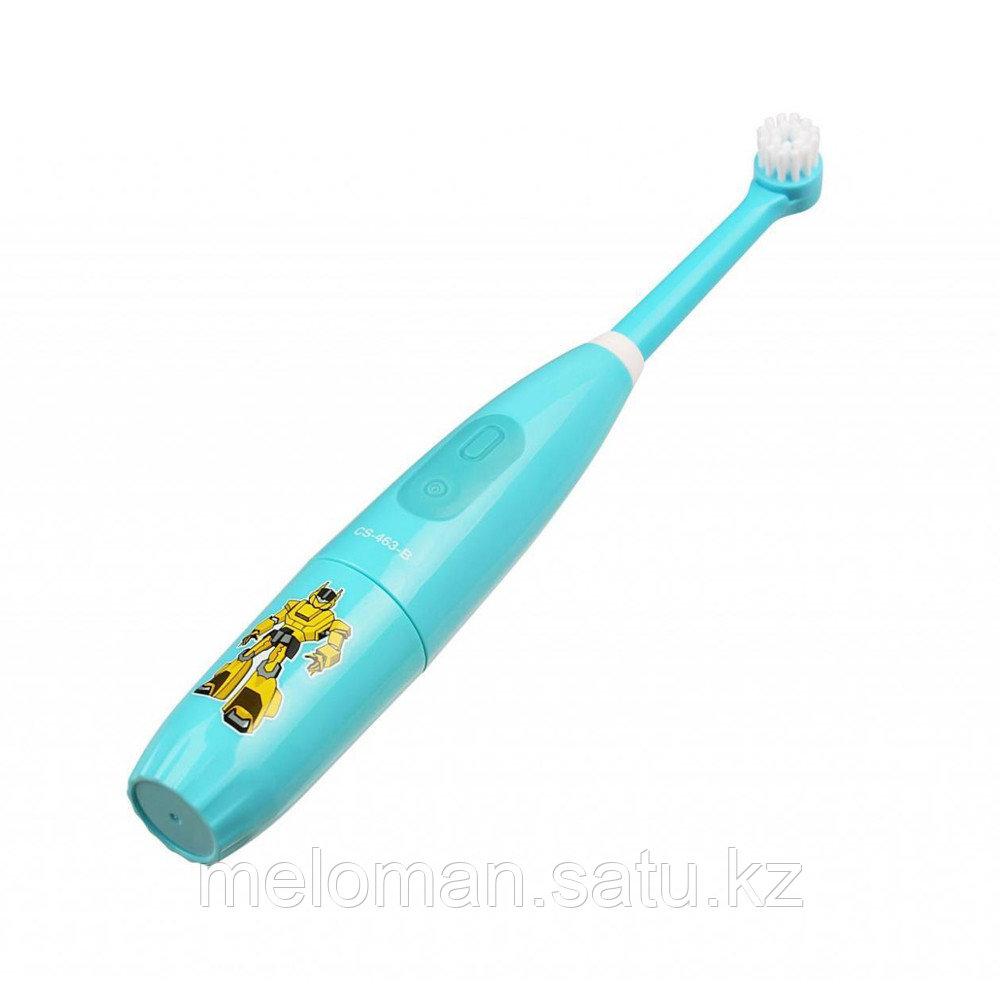 CS Medica: Электрическая звуковая зубная щетка CS-463-B Kids. 5-12 лет, бирюзовый - фото 8