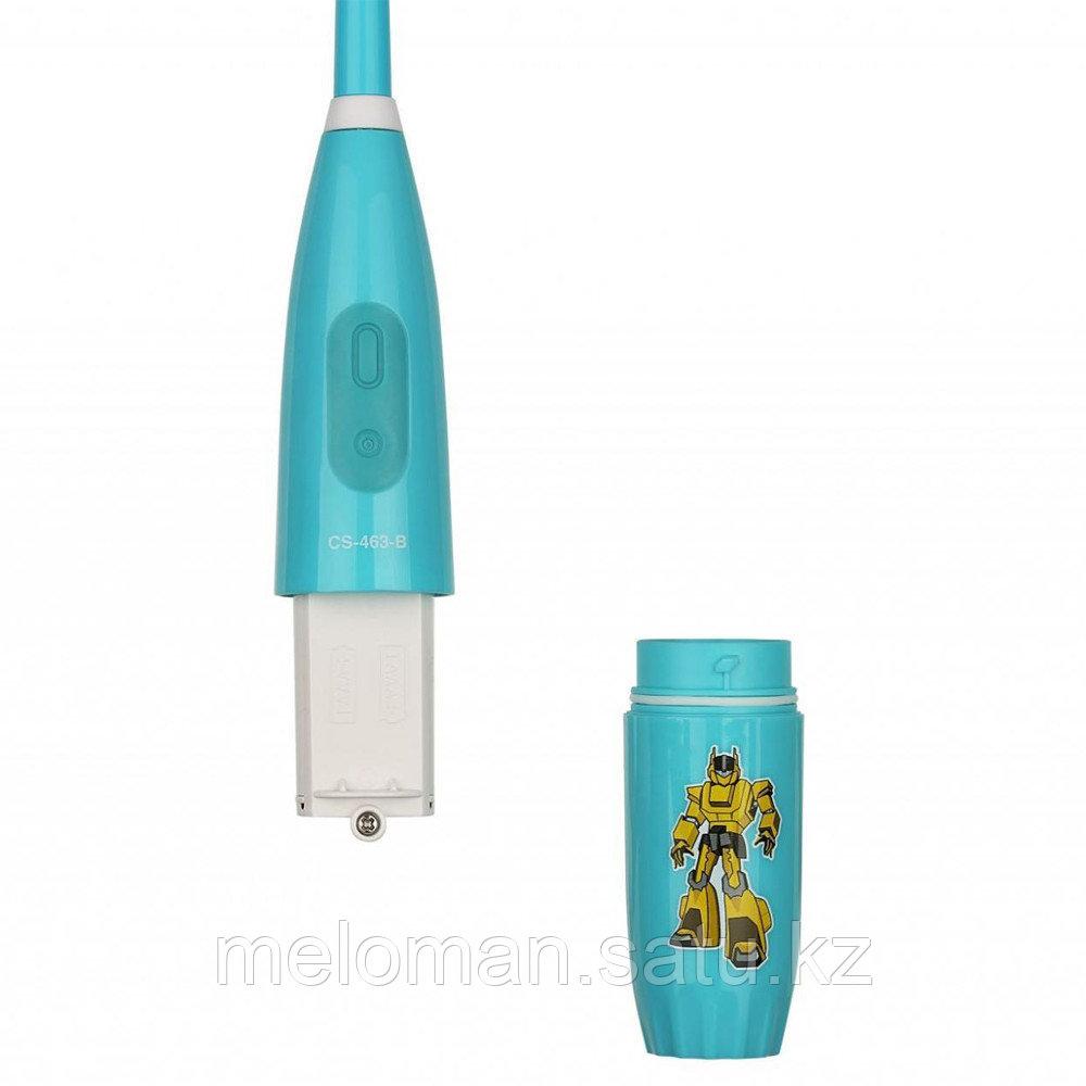 CS Medica: Электрическая звуковая зубная щетка CS-463-B Kids. 5-12 лет, бирюзовый - фото 10