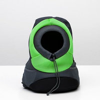 Рюкзак для переноски животных с креплением на талию, 31 х 15 х 39 см, зеленый