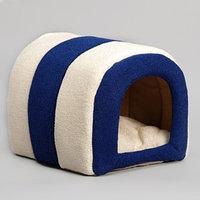 Домик-тоннель 'Лапа', 28 х 28 х 35 см, мебельная ткань, микс цветов