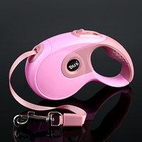 Рулетка DIIL, 3 м, до 10 кг, лента, прорезиненная ручка, розовая