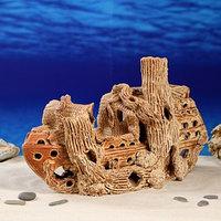 Декорация для аквариума 'Корабль и коряга', 23 х 39 х 23 см