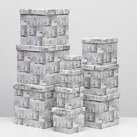 Набор коробок 10 в 1 квадратный, 26,5 х 26,5 - 8,5 х 8,5 см