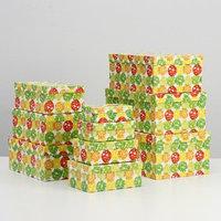 Набор коробок 10 в 1 'Шары-бабочки', 30,5 х 20 х 13 - 12 х 6,5 х 4 см