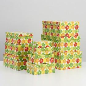 Набор коробок 10 в 1 'Шары-бабочки', 30,5 х 20 х 13 - 12 х 6,5 х 4 см - фото 1