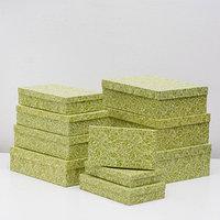 Набор коробок 10 в 1 'Кружевная листва зеленая' МИКС 36,5 х 26,5 х 12 - 23 х 13 х 3 см
