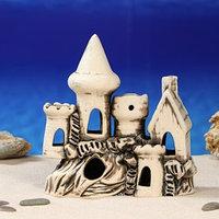 Декорация для аквариума 'Замок и домик с трубой', 8 х 21 х 19 см, микс