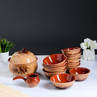 Набор посуды 'Луговой' 14 предметов 3,0/0,6/0,4/0,3 л