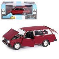 Машина металл 'ВАЗ 2104' 124, инерция, цвет бордовый, открываются двери, капот и багажник