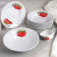 Набор посуды для вареников 'Клубника', 8 предметов