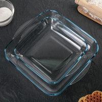 Набор квадратной посуды для запекания Borcam, 2 предмета 3,2 л, 1,95 л