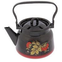 Чайник с петлёй 'Рябина', 2,3 л, эмалированная крышка