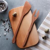 Кухонный набор для рыбы доска, лопатка, вилка, 28 х 15 см