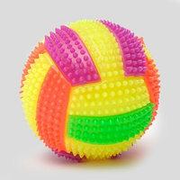 Мяч для собак светящийся с пищалкой 'Водное поло', 7 см, микс цветов