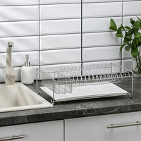 Сушилка для посуды с поддоном, 40x23x15 см, цвет хром
