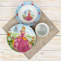 Набор детской посуды Доляна 'Волшебница', 3 предмета кружка 230 мл, миска 400 мл, тарелка 18 см