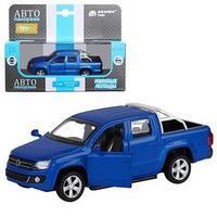 Машина металлическая Volkswagen Amarok 146, инерция, открываются двери, цвет синий