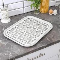 Поднос с вкладышем для сушки посуды 'Колос', 45,5x36 см, цвет МИКС