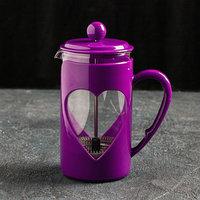 Френч-пресс Доляна 'Комплимент', 600 мл, цвет фиолетовый