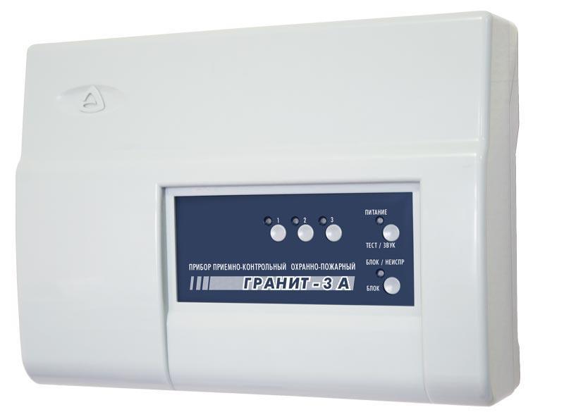 Гранит-3А Прибор приемно-контрольный Гранит-3А, 3 зоны, автодозвон, GSM-сигнализация (2 SIM-карты+ГТ