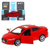 Машина металлическая Hyundai Elantra, 139, инерция, открываются двери, цвет красный