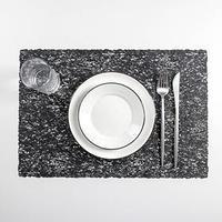 Набор салфеток кухонных 'Соломка', 30x45 см, 4 шт, цвет чёрный